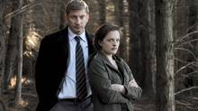 Elizabeth Moss (with David Wenham) is far removed from the office politics of Mad Men (PARISA TAGHIZADEH/THE CANADIAN PRESS)