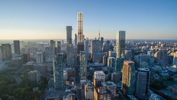 A rendering of the One building in Toronto, designed by London's Foster & Partners.