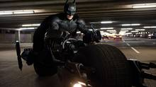 "This undated film image released by Warner Bros. Pictures shows Christian Bale as Batman in a scene from the action thriller ""The Dark Knight Rises."" (AP Photo/Warner Bros. Pictures, Ron Phillips) (Ron Phillips/AP)"