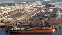 Iron Ore Co. of Canada's port facility in Sept-Îles, Que. Two Quebec Innu communities have filed a $900-million lawsuit against the company, claiming the miner has violated its rights for nearly 60 years. (IOC)
