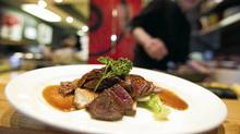 Kobe beef at Sushi Kimura Restaurant in Vancouver March 30, 2011. (JOHN LEHMANN/JOHN LEHMANN/THE GLOBE AND MAIL)