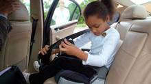 Provinces are lagging behind the U.S. when it comes to booster seat laws, but Transport Canada hopes that will soon change. (GABRIEL B. TAIT/ASSOCIATED PRESS)