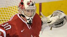 Canada goalie Scott Wedgewood (30) looks likely to start Tuesday's semi-final game at the World Junior Hockey Championship. THE CANADIAN PRESS/Nathan Denette (Nathan Denette/CP)
