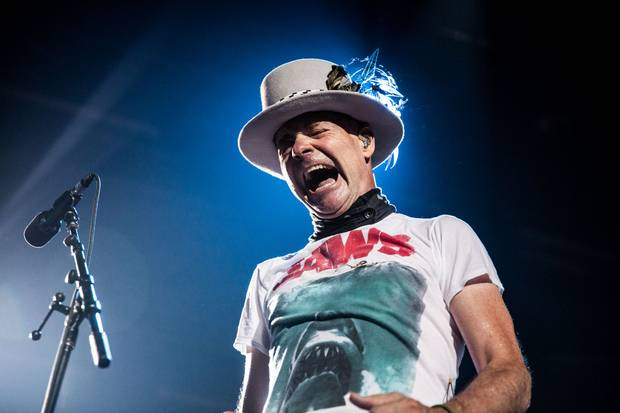 Gord Downie of The Tragically Hip performs at their last ever concert to their hometown crowd in Kingston on Aug. 20, 2016.