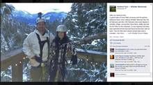 Whistler Blackcomb shared this post by friends of Matt Lorraway and Rebecca Ware. (Facebook)