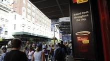 A Tim Hortons coffee shop on 34th St. in Manhattan. Tims is under pressure from an activist investor that wants the company to pare back its U.S. growth and borrow billions to fund a share buyback. (Fred Lum/The Globe and Mail)