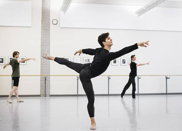 Guillaume Côté, choreographic associate at the National Ballet, is seen in rehearsal.