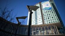 The Surrey Central City is part of Simon Fraser University and was designed by architect Bing Thom. (Rafal Gerszak/Rafal Gerszak/The Globe and Mail)
