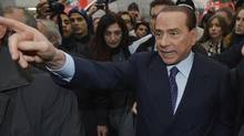 Silvio Berlusconi says he would not be a candidate for prime minister if the centre-right coalition wins. (REUTERS)