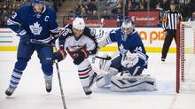 Fans booed the Leafs off the ice while they fell 6-0 to Columbus at the Air Canada Centreon Nov. 25, 2013. The team needs to step up as it approaches a gruelling 11-game stretch. (Aaron Vincent Elkaim/THE CANADIAN PRESS)