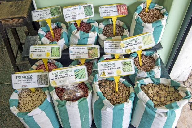 The Soares & Rebelo seed shop, which has been around since 1935, is a the place to find local seeds.