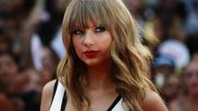 Singer Taylor Swift arrives on the red carpet for the MuchMusic Video Awards in Toronto, June 16, 2013. (MARK BLINCH/REUTERS)