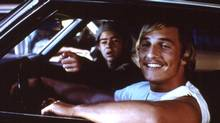 Rory Cochrane and Matthew McConaughey in Dazed and Confused