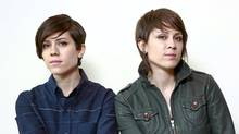 Tegan and Sara (right) in Vancouver in 2009 (Jeff Vinnick/The Globe and Mail)