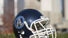 Toronto Argonauts helmet (Philip Cheung/The Globe and Mail)