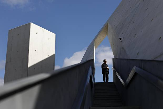 National Holocaust Monument architect Daniel Libeskind gives a tour on Sept. 28, 2017.