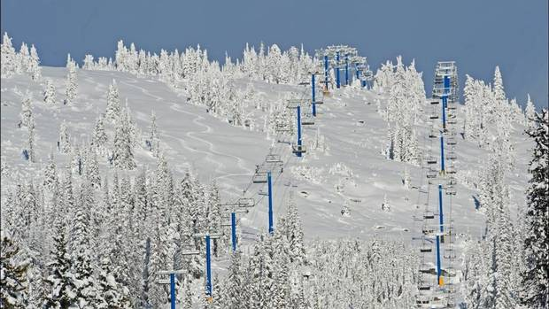 Big White ski patrollers leave tracks in the fresh powder. Alpine runs will open to the public Nov. 16 – it's the earliest opening 50 years at this Kelowna, B.C. resort. To celebrate, lift tickets, rentals and lessons are half-off on opening day. (Big White Ski Resort)