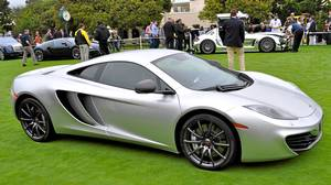 McLaren MP4-12C super-car on display at Pebble Beach.