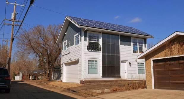 An energy efficient garden suite a 124th Street resident built in her backyard.