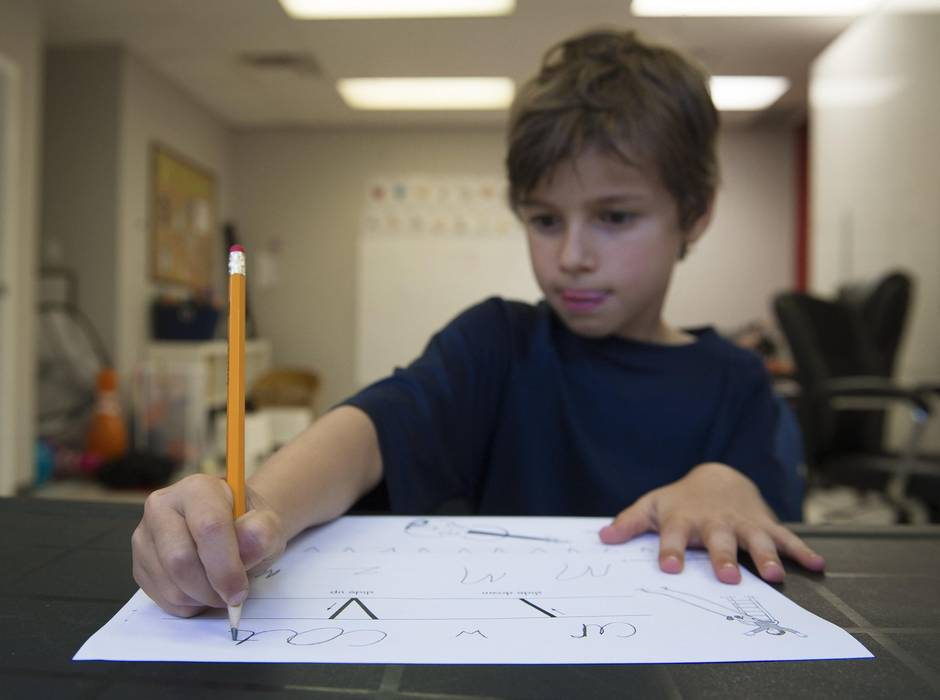 Learning the lost art of cursive writing