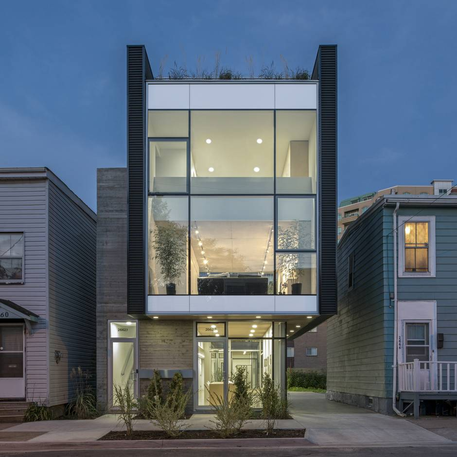 This Modern Halifax House Embeds Itself In The Urban Mix