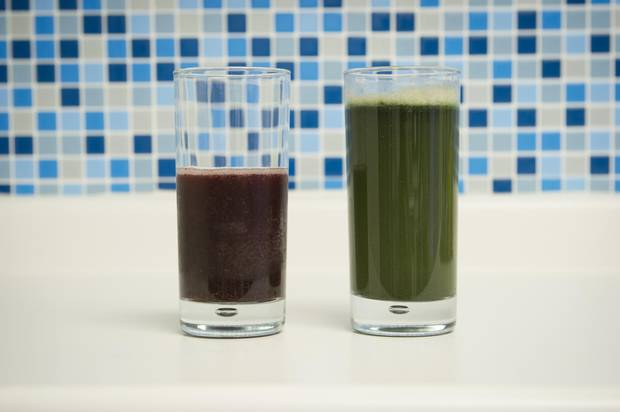 Puréed fruits and veggies with protein powder – now that's a square meal; if only someone would be inspired by The Jetsons and create a good meal in pill form.