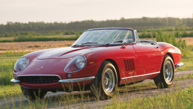 1. 1967 Ferrari 275 GTB/4*S N.A.R.T. Spider. Sold for $27,500,000.00 in Monterey, California (2013). (Darin Schnabel/©2013 Courtesy of RM Auctions)