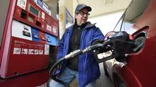 The national average price of gasoline hit almost $1.37 this week. (Fred Lum/The Globe and Mail)