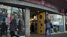 A customer enters the Lululemon store in downtown Vancouver, British Columbia November 8, 2013. (Andy Clark/REUTERS)