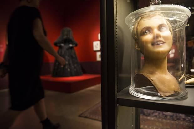 The exhibition contains 22 full-scale monster sculptures and mannequins.