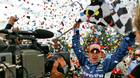A.J. Allmendinger is showered with confetti after winning the Champ Car Grand Prix of Denver back in 2006.
