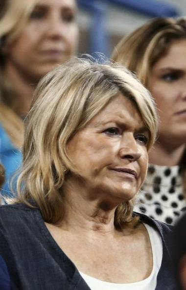 Hoosegow-haired stock-boiler Martha Stewart sits in the audience at a U.S. Open tennis match last week and tries to remember whether she turned the servants off before leaving the house. (Reuters)
