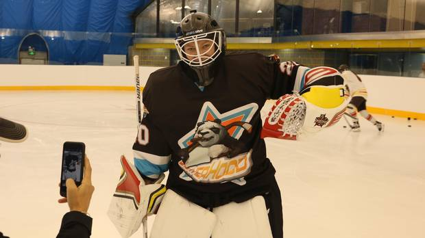Finnish Olympian Noora Raty, widely considered the world's best female goaltender, is playing for Kunlun Red Star.