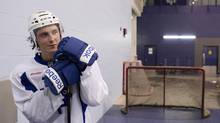 Toronto Maple Leafs forward Tyler Bozak has targeted December 29th as the date for his return from an oblique injury. (file photo) (CHRIS YOUNG/THE CANADIAN PRESS)