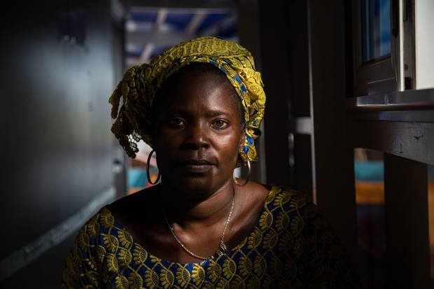 Celestine Soke, 40, has five living children, and lost five children. 'I heard about the family planning before, but people were saying it was making women sick. It is when I saw the brand new boat and when they gave me a lot of information that I started being convinced.'
