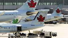 Air Canada planes on the tarmac at Toronto Pearson International Airport. (MARK BLINCH/REUTERS)
