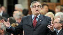 Treasury Board President Tony Clement speaks during Question Period in the House of Commons on Feb. 29, 2012. (Sean Kilpatrick/Sean Kilpatrick/The Canadian Press)
