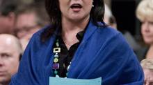 Health Minister Leona Aglukkaq speaks in the House of Commons on March 26, 2013. (ADRIAN WYLD/THE CANADIAN PRESS)