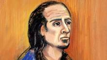 Sayfildin Tahir Sharif appears in court in Edmonton on Jan. 20, 2011 in this artist's sketch. (Amanda McRoberts/Amanda McRoberts/The Canadian Press)