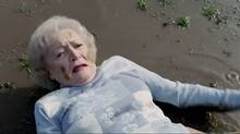 A still from the Betty White spot from Snickers' 'You're not yourself when you're hungry' ad campaign