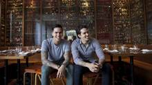 Bent, a new Dundas West restaurant from the Bent-Lee family. Kai, left, and Levi Bent-Lee are at the reins of Bent, a new Dundas West restaurant. (Moe Doiron/The Globe and Mail)