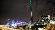 The CN Tower in downtown Toronto. (Michelle Siu/THE CANADIAN PRESS)