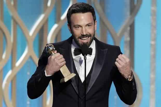 Ben Affleck holds his award for best director for Argo during the 70th Annual Golden Globe Awards on Jan. 13, 2013.