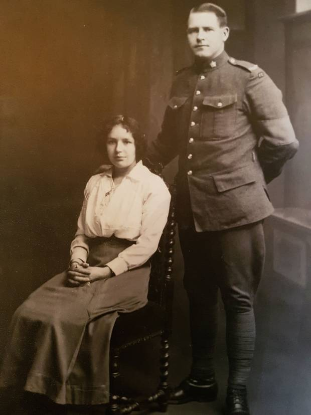 George Seadon and his wife, Bertha, in 1916.