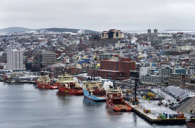 The harbour in St. John's.