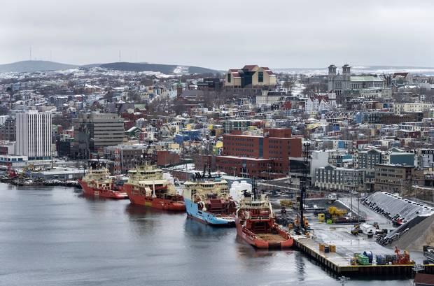 The harbour in St. John's.