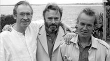 Christopher Hitchens, center, with two friends, Ian McEwan left, and Martin Amis. (Photo from Hitchen's book, Hitch-22/Photo from Hitchen's book, Hitch-22)