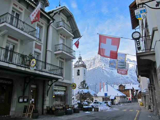 Champéry, Switzerland, is a 700-year-old village cocooned in a narrow valley that looks like a wintertime set for The Sound of Music – Part 2.