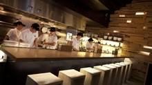 The Noodle Bar at Toronto's Momofuku restaurant. (Moe Doiron/The Globe and Mail)