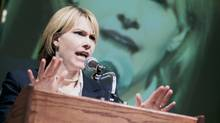 A woman speaks at a podium. (Comstock/Getty Images/Comstock Images)